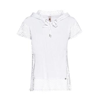 Shirt mit Netz, weiß