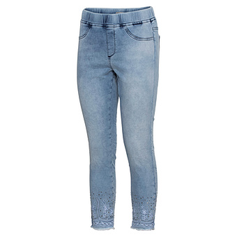 Jeggings mit Ziersteinen 64cm, light blue denim