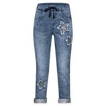 COSY  Schlupfjeans mit Stern, blue