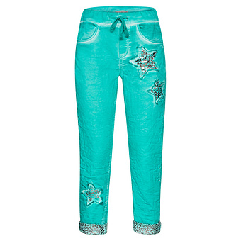 Schlupf-Jeans mit Animal-Stern, ocean