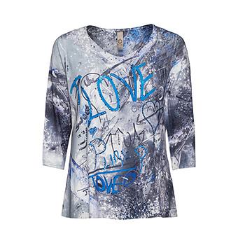 Shirt 'Love', blue glow