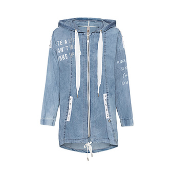 Jacke im Denim-Look, bleached denim