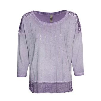 ONLINE EXKLUSIV: Shirt mit Glitzersteinen, lilac