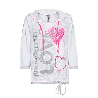 Shirt 'Love', weiß