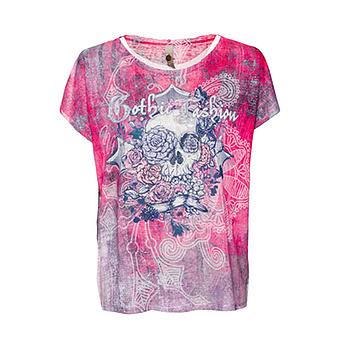 Shirt im Allover-Design, pink glow