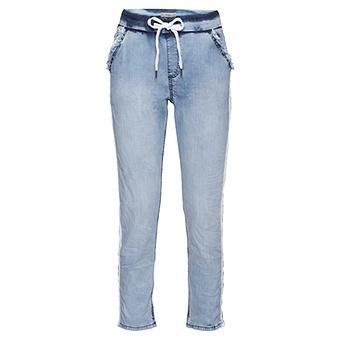 Schlupf-Jeans aus fließendem Lyocell, light blue