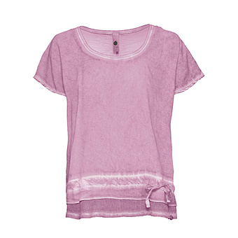 Shirt mit Netzsaum, vintagerose