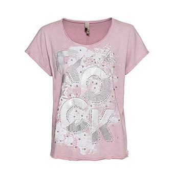 Shirt mit Front-Print, pink salt