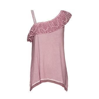 Shirt Off-Shoulder, pink salt