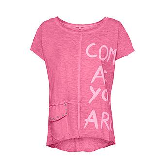 Shirt mit Pattentasche, pink glow