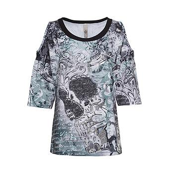 Shirt mit Cut-Outs, sea salt