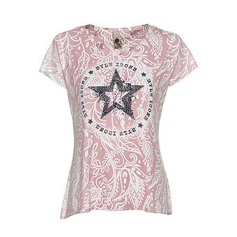 Shirt im Allover-Design, pink salt