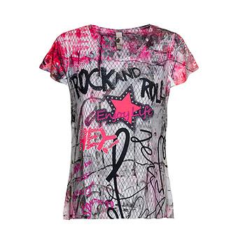Shirt im Allover-Design, pepper