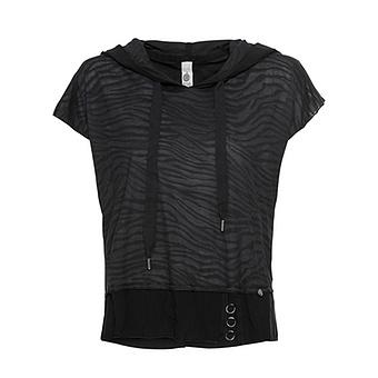 Shirt im Zebra-Look, schwarz