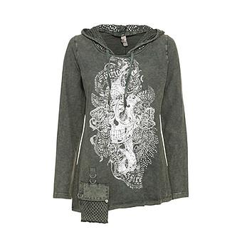 Shirt mit Front-Print, khaki