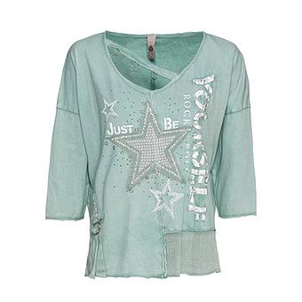 Shirt mit Stern-Patch, sea salt