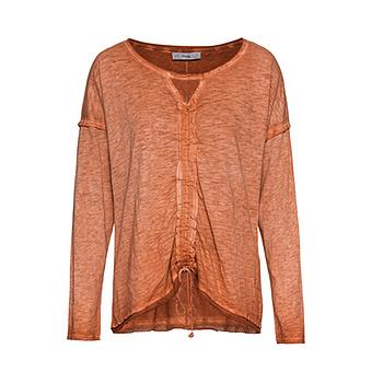Shirt mit Tunnelzug, burnt orange