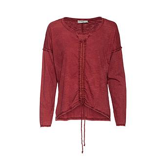 Shirt mit Tunnelzug, red earth