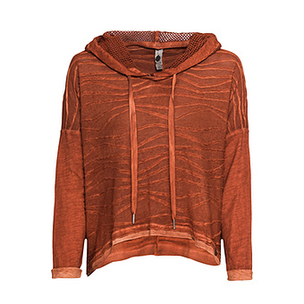 Shirt Vokuhila, burnt orange