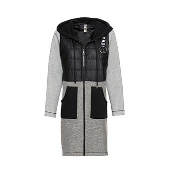 Mantel mit Stepp-Design, anthra/ schwarz