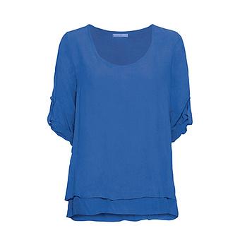 Bluse im Layering-Look, blue glow