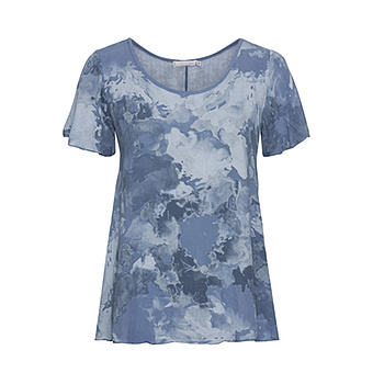 Bluse in Camouflage-Optik, blau