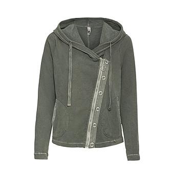 Sweat-Jacke mit Ösen, khaki