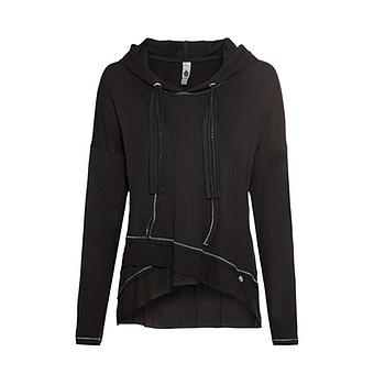 Shirt mit Lurex, schwarz
