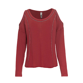Shirt mit Cut-Outs, red earth