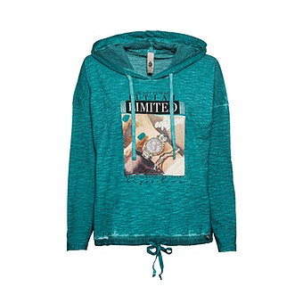 Shirt mit Front-Design, deep sea