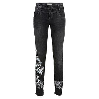 Jeans, Doppelbund, 80cm, black Denim