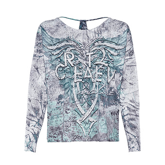 Shirt in Camouflage-Optik, sea salt