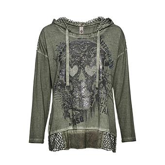 Shirt mit Front-Design, salbei