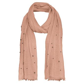 Schal mit Metallic-Perlen, pink salt