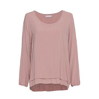 Bluse im Layering-Look, pink salt