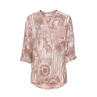 Bluse in Batik-Optik, rosenholz