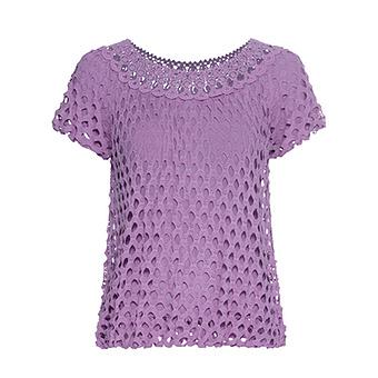 Shirt mit Lochstruktur, lilac