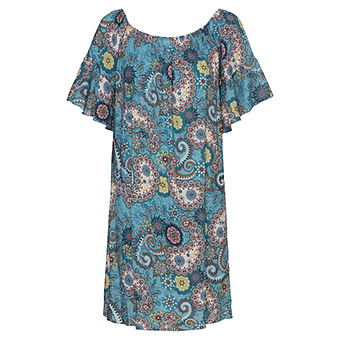 Kleid im Alloverprint, baltic