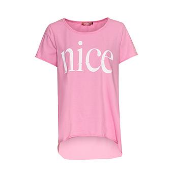 Long-Shirt mit Schriftzug, pink glow