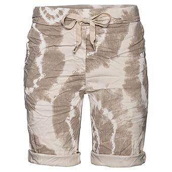 Shorts in Batik-Optik, sand