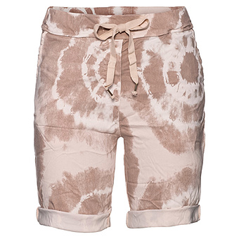 Shorts in Batik-Optik, pink salt