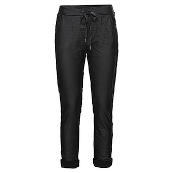 COSY Hose in Veggie-Leder-Optik, schwarz