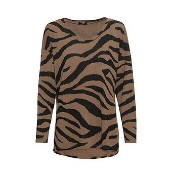 Shirt im Animal-Look, zimt