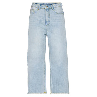 High waist Jeans im Culotte-Style, light blue denim