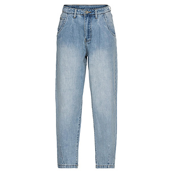 High waist Mom-Jeans, light blue denim