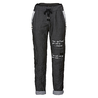 Pant in Denim-Optik, black