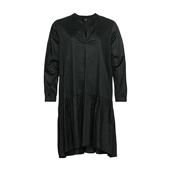 Kleid mit Volantsaum, schwarz