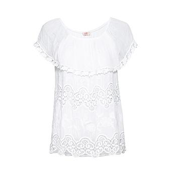 Tredy Fashion Onlineshop Tunika Mit Carmen Ausschnitt Weiss Mode In Grosse 36 50