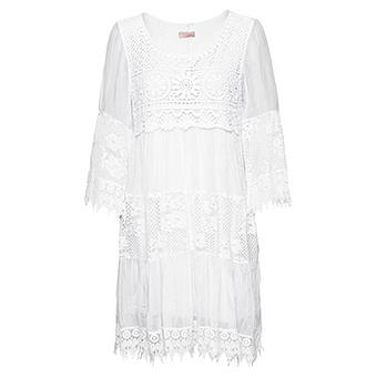 Kleid mit Spitze, weiß