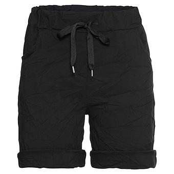 Shorts in Crash-Optik, schwarz
